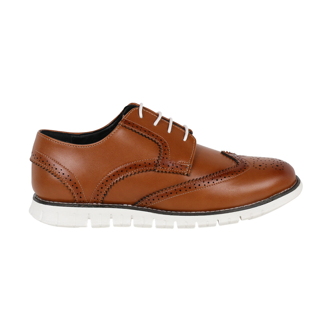 ALLEN WINGTIP TAN BROGUE SNEAKERS