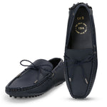 AZA BLUE DRIVING LOAFERS