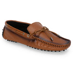 AZA TAN DRIVING LOAFERS