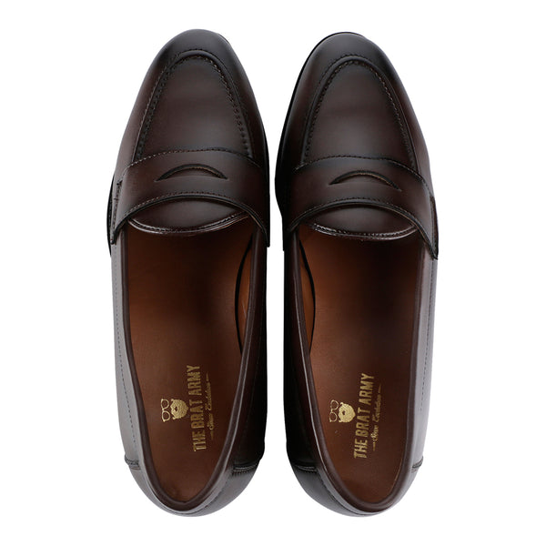 3e9ac1553b0 SIENA TIMELESS BROWN CLASSIC PENNY LOAFERS – THE BRAT ARMY