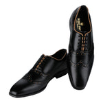 OLIENA BLACK WINGTIP TWO-TONE BROGUES