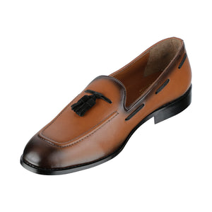 CRACO DUAL-TON TAN TASSEL LOAFERS