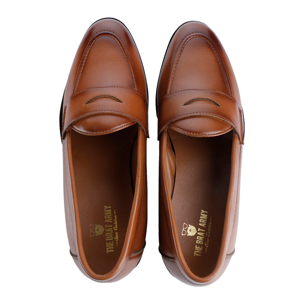 76c959cc359 SIENA TIMELESS TAN CLASSIC PENNY LOAFERS – THE BRAT ARMY