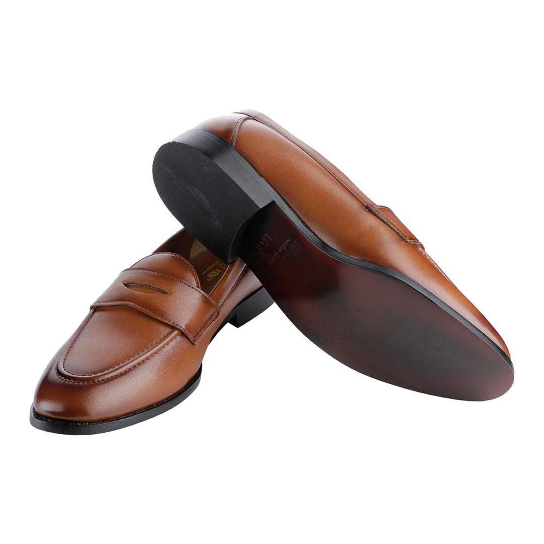 SIENA TIMELESS TAN CLASSIC PENNY LOAFERS