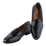 SIENA TIMELESS BLACK CLASSIC PENNY LOAFERS