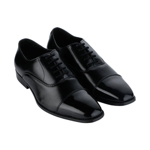 VENETO TIMELESS BLACK CAPTOE OXFORD SHOES