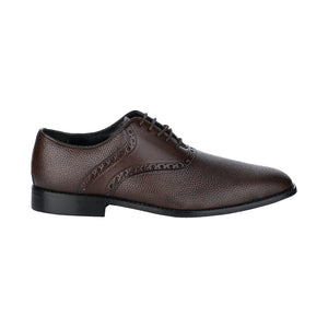 PIEDMONT DUAL FABRIC BROWN SADDLEBACK LACED SHOE