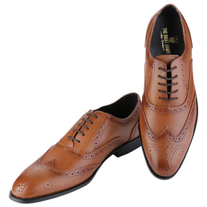 BLOCKLEY TAN WINGTIP BROGUE  SHOES