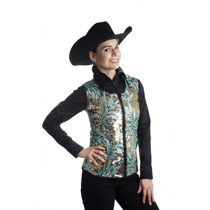 Palm Sequinned Show Vest