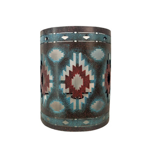 COLORFUL AZTEC RUSTIC SOUTHWESTERN WALL SCONCE