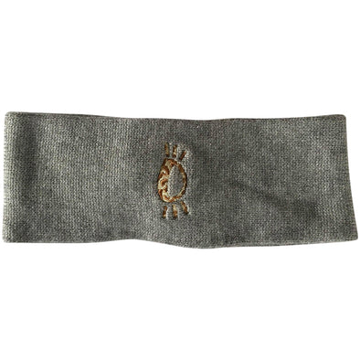 Halo Leopard Winter Headband in Grey