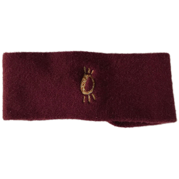 Halo Leopard Winter Headband in Claret
