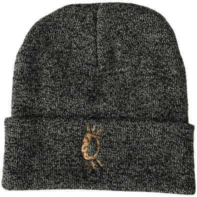 Halo Leopard Beanie in Heather Grey