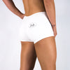 Halo White Mid Rise Booty Shorts