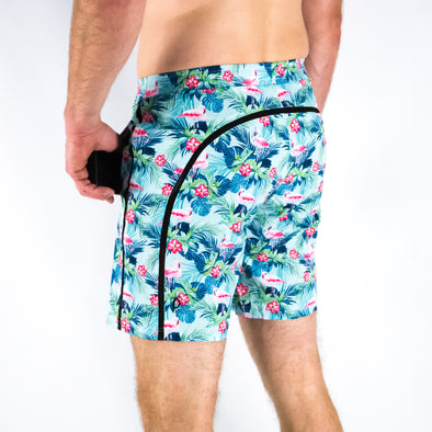 "Halo Men's 9"" Flamingo Palm Shorts"