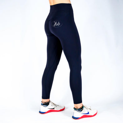 Halo Navy 7/8 Squat Stretch Leggings
