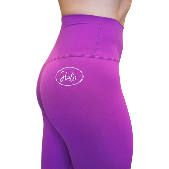 Halo Violet 7/8 Squat Stretch Leggings