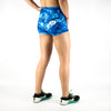 Halo Blue Marble High Rise Roll Down Booty Shorts