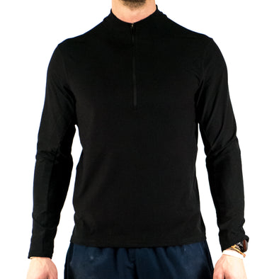 Halo Jet Black 1/2 Zip Pullover