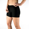 "Halo Jet Black High Rise 6"" Shorts"