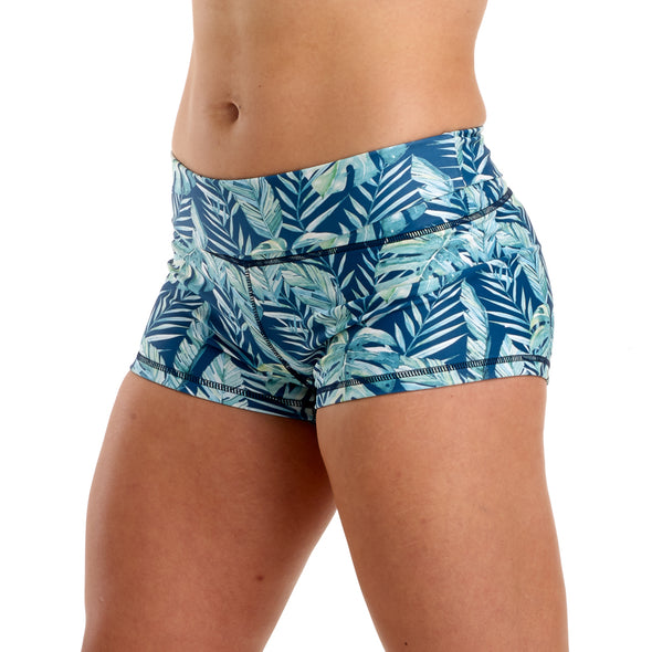 PRE ORDER - Halo Rainforest High Rise Roll Down Booty Shorts - PRE ORDER