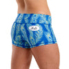 Halo Peacock Feather High Rise Roll Down Booty Shorts