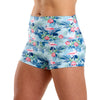 Halo Flamingo Palm High Rise Roll Down Booty Shorts