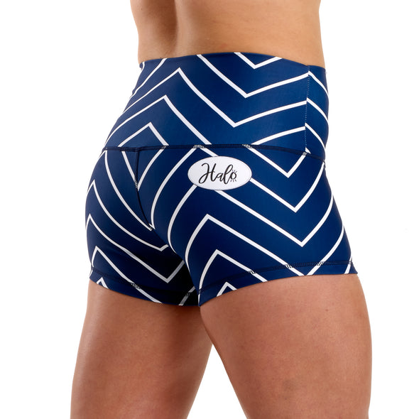 Halo Nautical Navy High Rise Roll Down Booty Shorts