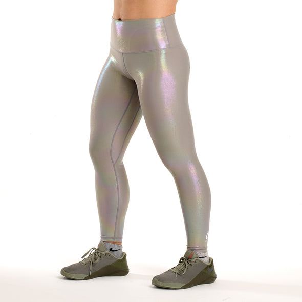 Halo Mermaid Shimmer 7/8 Squat Stretch Leggings