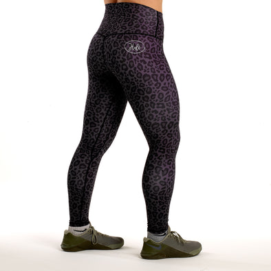 Halo Dark Leopard High Rise Roll Down Leggings