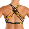 Halo Butterfly Sunflower Sports Bra