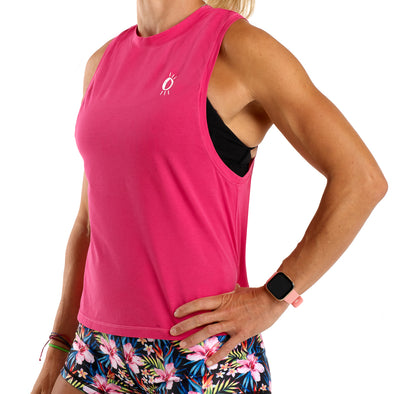 Halo Icon Raspberry Muscle Tank