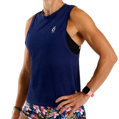 Halo Icon Navy Muscle Tank
