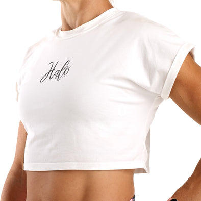 Halo Signature White Crop T-Shirt