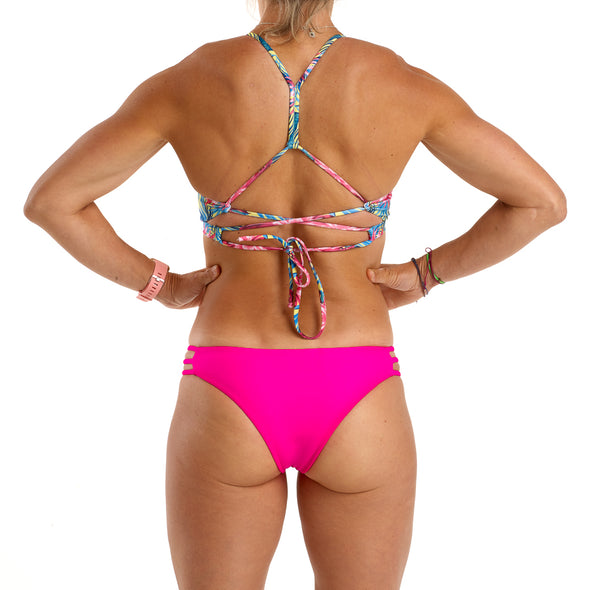 Halo Yellow Lotus / Neon Pink Reversible Cheeky Bottoms