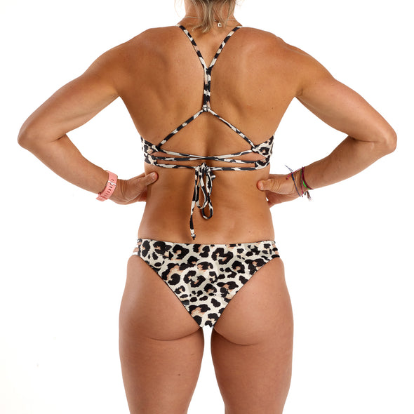 Halo Leopard / Jet Black Reversable Cheeky Bottoms
