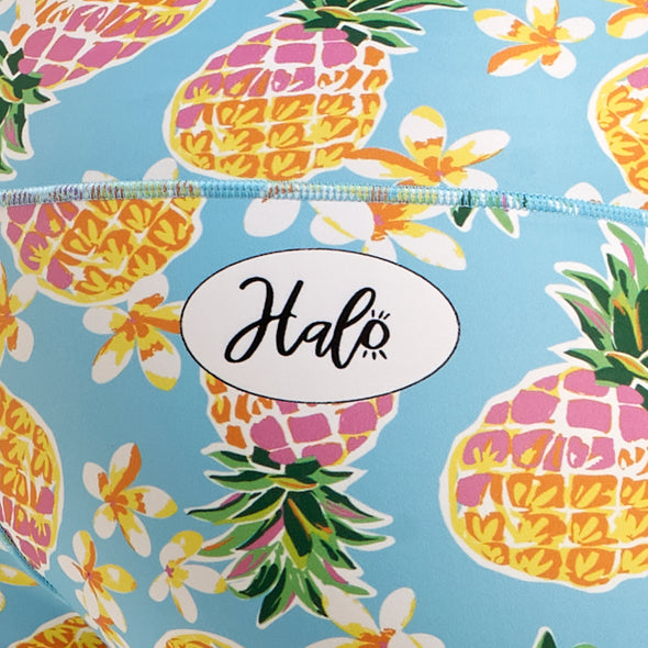 Halo Pineapple Punch High Rise Roll Down Booty Shorts