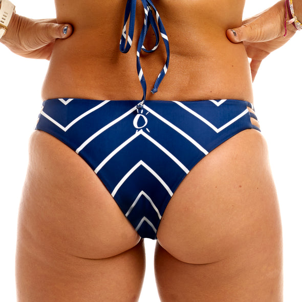 Halo Nautical / Navy Reversable Cheeky Bottoms