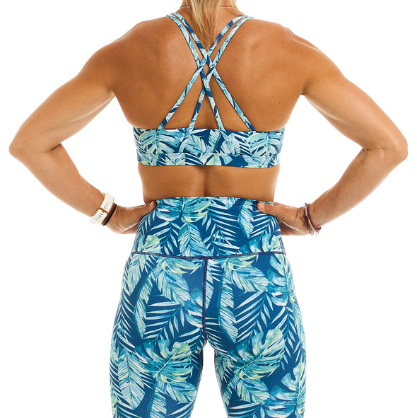 Halo Monsoon Sports Bra in Rainforest