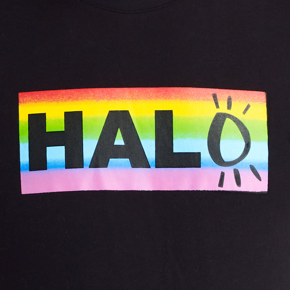 Halo Rainbow T-Shirt in Black