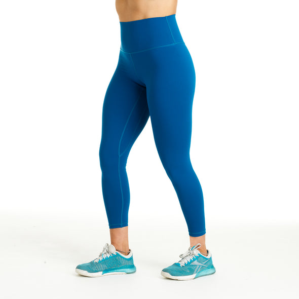 Halo Teal High Rise Roll Down Leggings