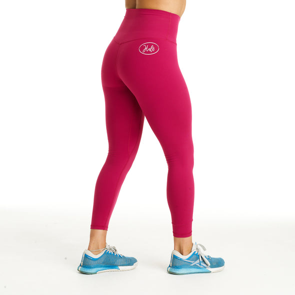 Halo 7/8 Squat Stretch Leggings Raspberry