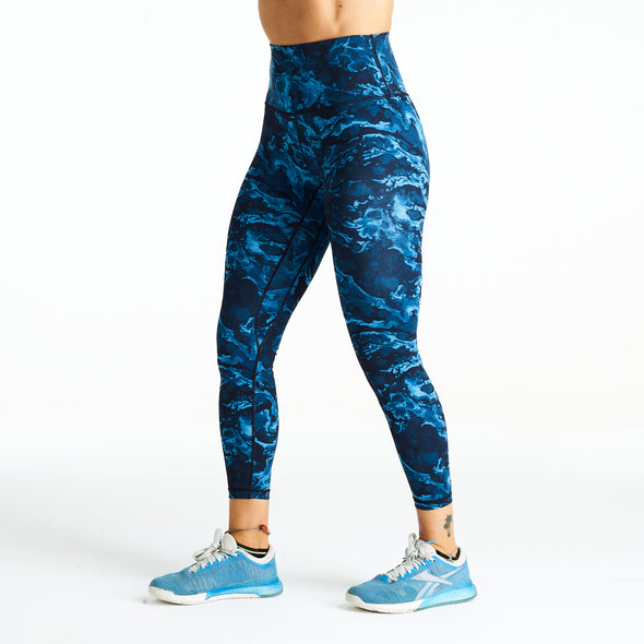 Halo 7/8 Squat Stretch Leggings Winter Wave