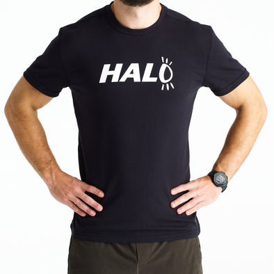 Halo Logo T-Shirt in Black