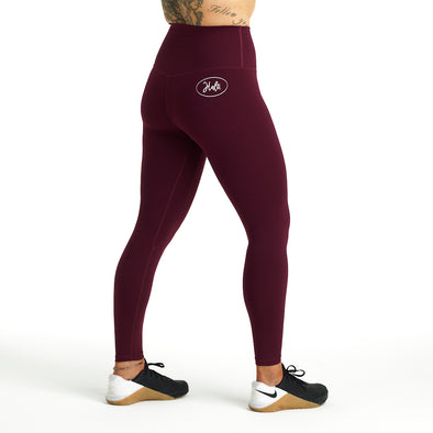 Halo Dark Purple High Rise Roll Down Leggings