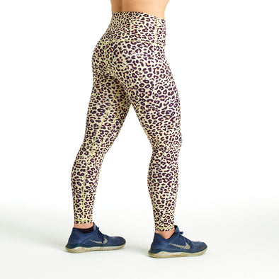 Halo Leopard High Rise Roll Down Leggings