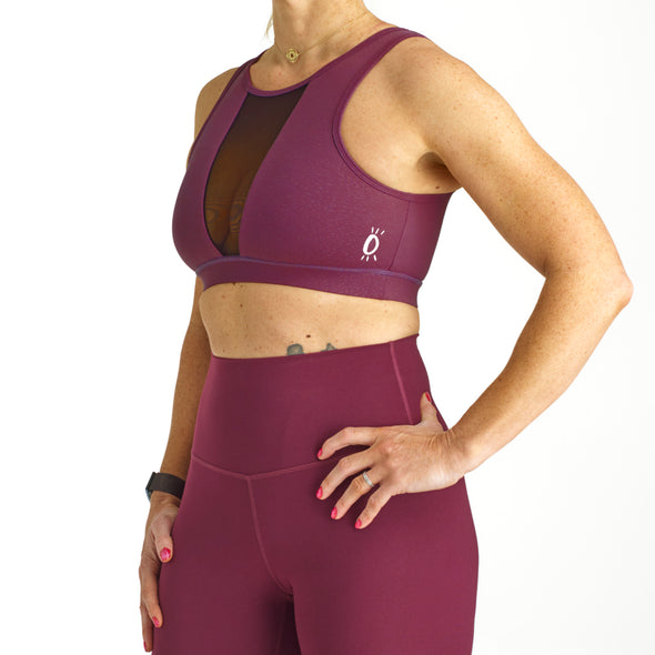Halo Eclipse Sports Bra in Dark Purple