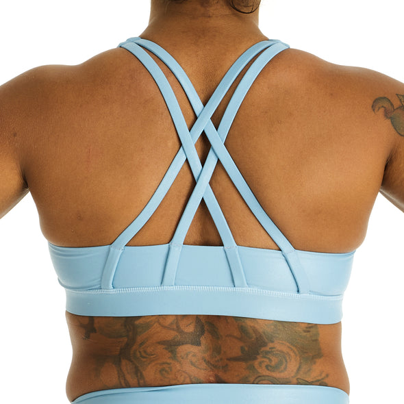 Halo Monsoon Sports Bra in Blue Shimmer