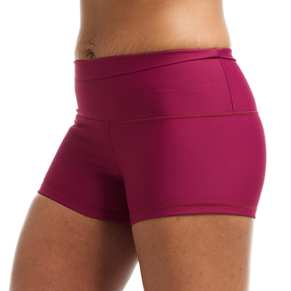 Halo Plum High Rise Roll Down Booty Shorts