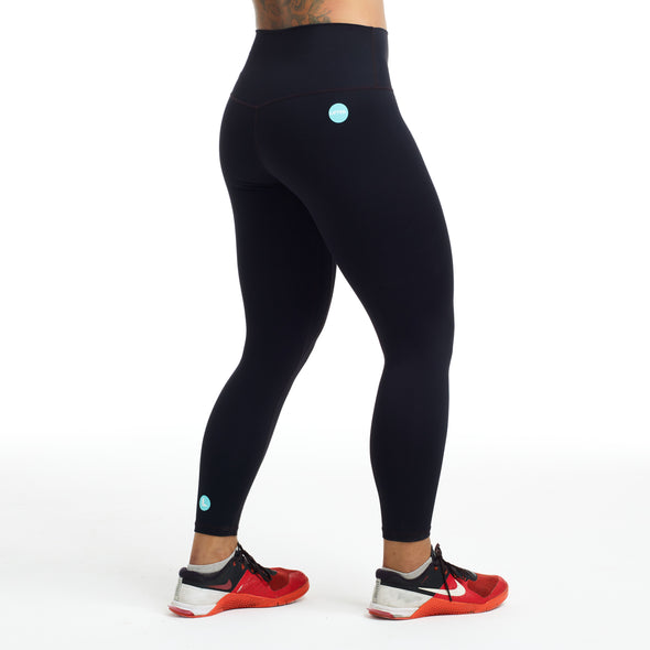 Halo x LIFTED 7/8 Squat Stretch Leggings in Pitch Black